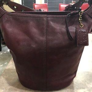 Coach Maroon  genuine leather handbag